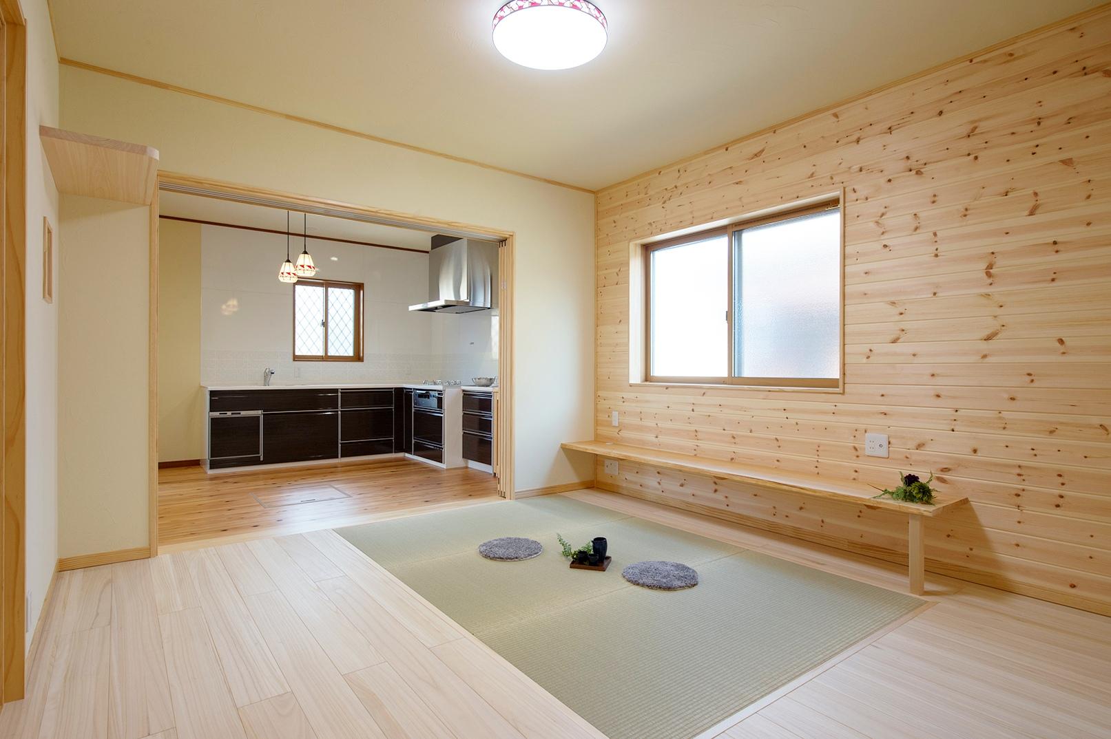 将来を考えた安心バリアフリー設計。ねこちゃんと暮らす自然素材の平屋のお家。